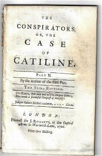 1721 The Conspirators or, Case of Catiline