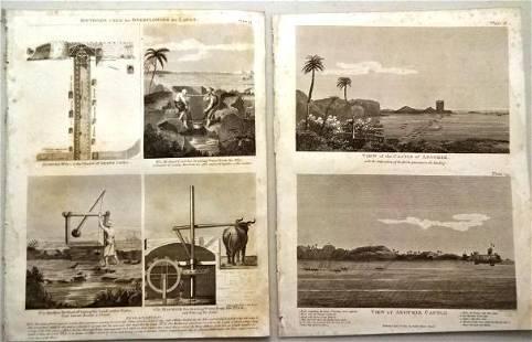 1803 Five Engraved Plates Egypt Aboukir