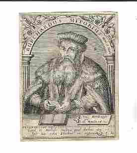 1650 De Bry Engraving Burchardus Mitobius