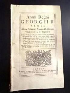 1757 English Tax Act Decorative