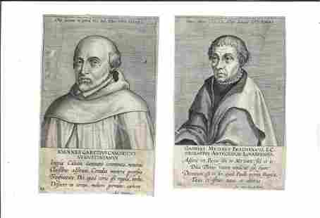Two 17th C Dutch Engravings of Theologians