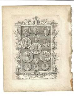 1763 Engraving Medals of Oliver Cromwell