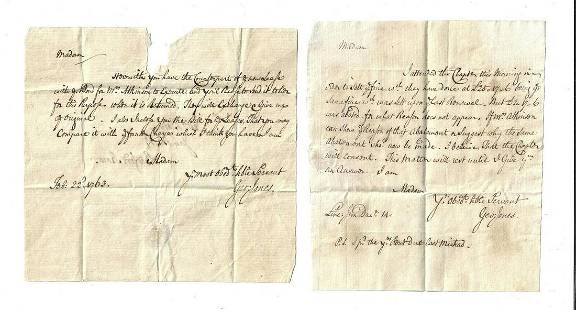 18th C Lot of London Documents