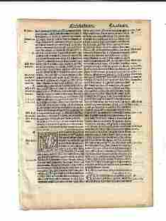 1514 Latin Bible Leaf Ecclesiastes