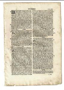 1534 German Bible Leaf Psalms