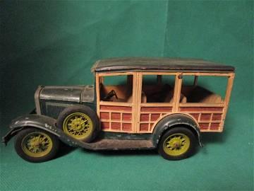 Vintage Hubley Ford Model A Station Wagon Green