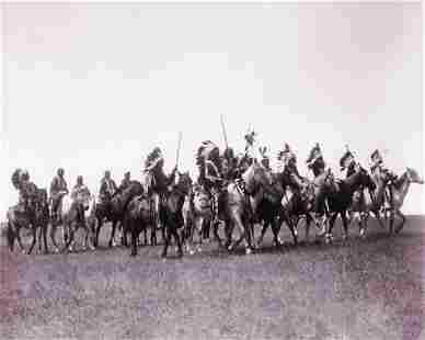 1900, BRULE WAR PARTY (TONED), EDWARD S. CURTIS