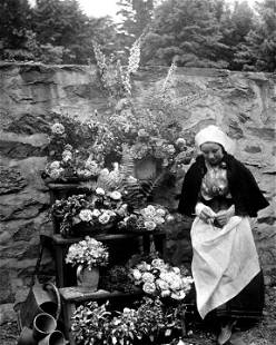 "CIRCA 1900, ""DUTCH FLOWER SELLER"""