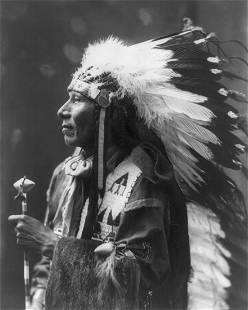 """1899 PORTRAIT OF """"STANDING BEAR"""", BY HEYN"""