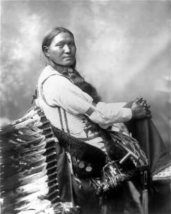 "1899 PORTRAIT OF ""SUNFLOWER""; SIOUX INDIAN BY HEYN"