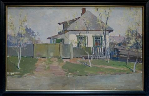 Oil painting Spring morning Kordonskiy Martin-Vigdor