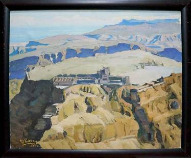 Oil painting The ruins of the palace Karas Joseph