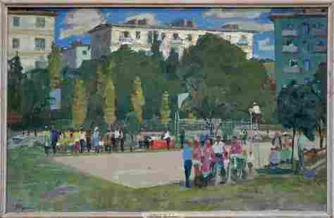 Oil painting Stadium Korostelev Vladimir Alexandrovich