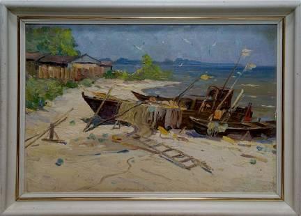 Oil painting Broken trough Yarovoy Stepan Kalinovich