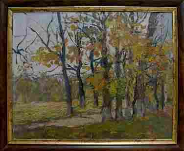 Oil painting Autumn landscape Gantman Moses Faybovich