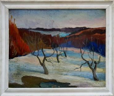 Oil painting Winter Tkachenko M. S.