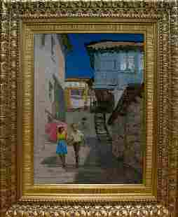 Oil painting Two people Valentin Viktorovich Volkov