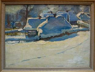 Oil painting Winter has come Petrov George Petrovich