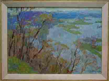 Oil painting Spring day Naumova Tamara Sergeevna