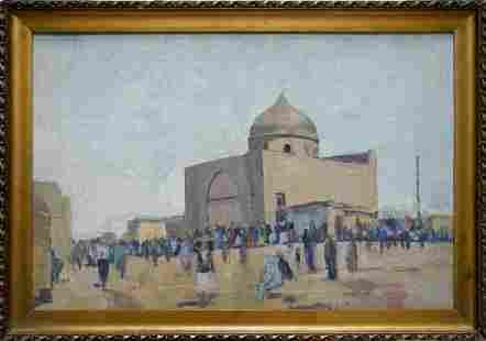 Oil painting City landscape Bondarovich Anatoly