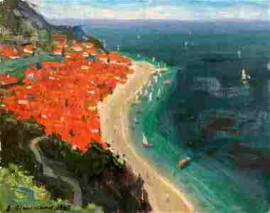 Oil painting Roofs Filippov Z. I.