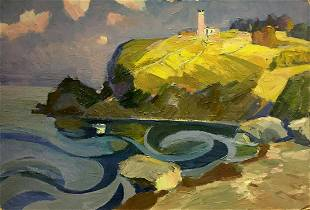 Oil painting Upland Lighthouse Fedorovsky A.M.