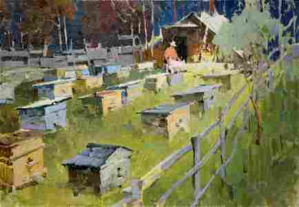 Oil painting Apiary Serbutovsky Andrey Andreevich