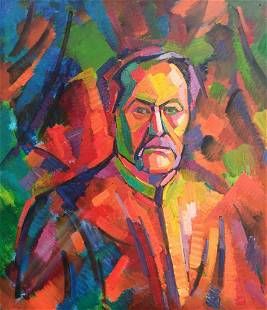 Abstract oil painting Portrait of a man Peter Tovpev