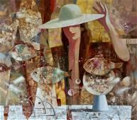 Abstract oil painting Soaring fish Anatoly Borisovich
