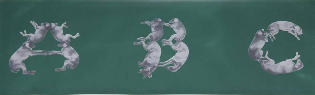"William Wegman - A,B,C...Z - 1993 Serigraph 13"" x 360"""