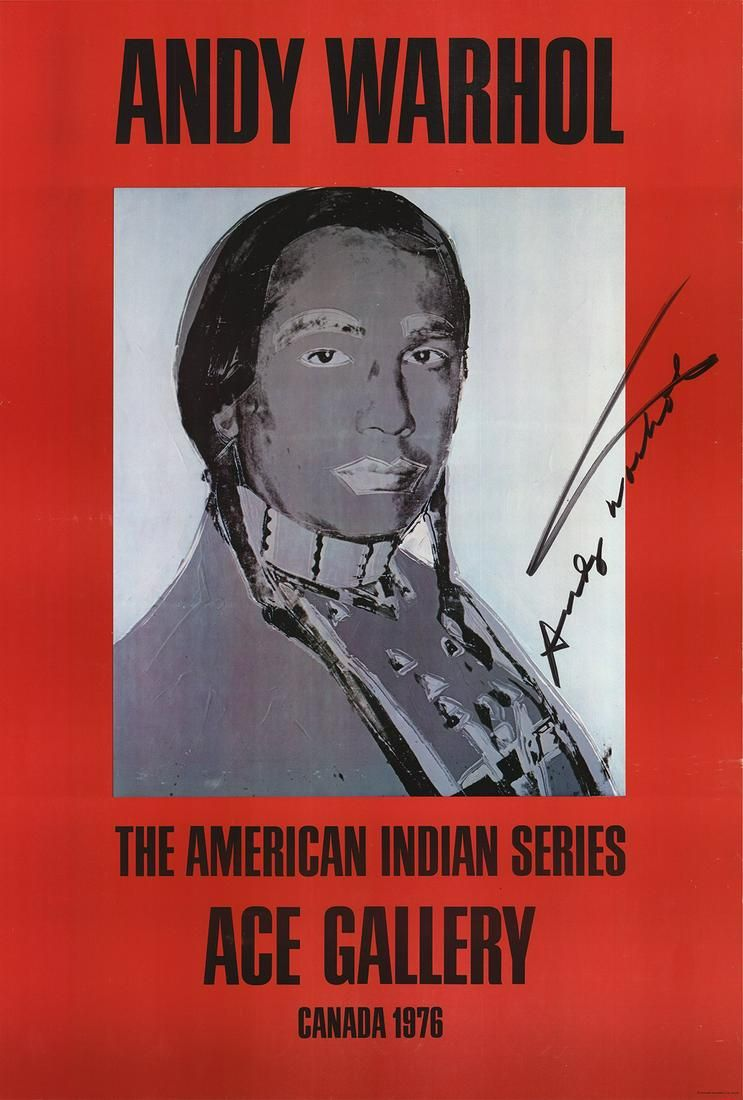 Andy Warhol - American Indian (Red) - 1977 Offset