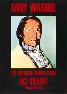 Andy Warhol - American Indian Portrait - 1976 Offset