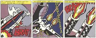 Roy Lichtenstein - As I Opened Fire (Triptych) - 1966