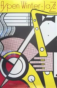 """Roy Lichtenstein - Aspen Jazz - 1967 Serigraph 40"""" x"""
