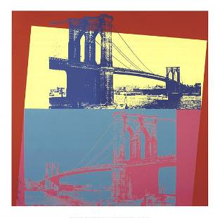 "Andy Warhol - Brooklyn Bridge - 2014 Giclee 36"" x 36"""