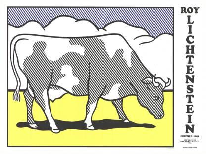 Roy Lichtenstein - Cow Going Abstract Triptych - 1982