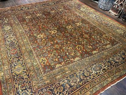 Antique Sultan Abad Carpet 9'0'' X 10'6''