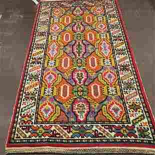 Antique Swedish Carpet Rug 4'0'' X 7'5''