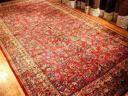 Vintage Sarouk Carpet 11'11'' X 23'8''