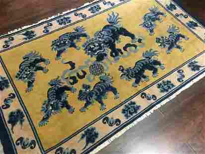 Vintage Chinese Rug 4'0'' X 6'9''