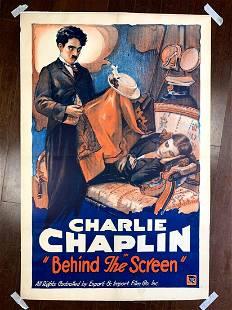 Charlie Chaplin - Behind The Screen (1916) US One Sheet