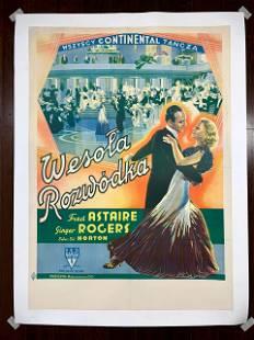 "The Gay Divorcee (1934) 23"" x 33"" Polish Movie Poster"