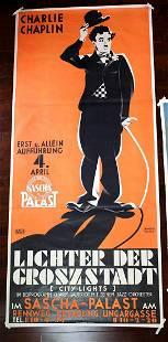 "City Lights - Charlie Chaplin (1931) 109"" x 49"""