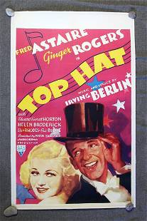 Top Hat - Astaire & Rogers (1935) Canadian One Sheet