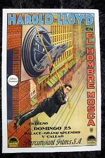 "Safety Last - Harold Lloyd (1923) 29.25"" x 43.25"""
