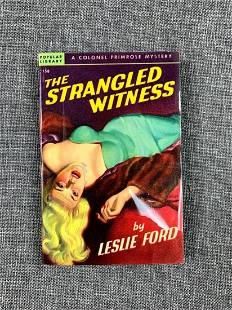 """The Strangled Witness - Art by Ann Chernow (1948) 4.25"""""""