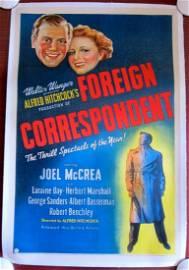 Foreign Correspondent - Hitchcock (1940) US 1 SH Movie