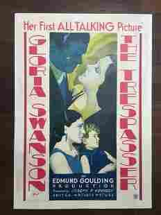 "The Trespasser - Gloria Swanson (1929) 28.25"" x 41"" US"