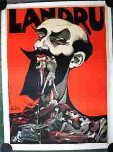"Landru (1920) 31.75"" x 43"" Dutch Stage Production"
