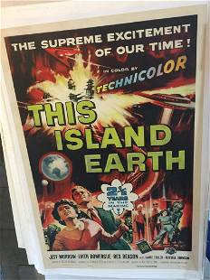 This Island Earth (1955) US One Sheet Movie Poster LB